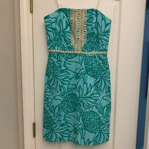 Lilly Pulitzer 4 Originals Strapless Dress Toucan